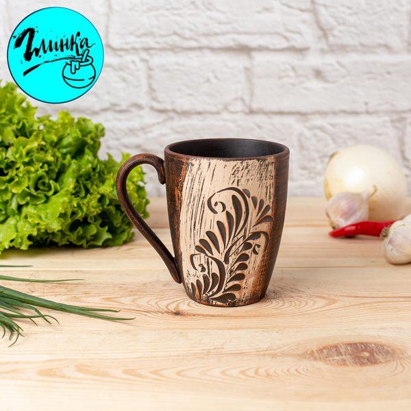 Чашка глиняная (ангоб) 350 мл